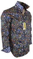 NEW Robert Graham $198 GIN BLOSSOM Cotton Floral Print Classic Fit Sports Shirt