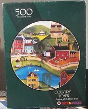 COUNTRY TOWN BY STEVE KLEIN BITS & PIECES ROUND PUZZLE