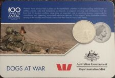 2016 • 100 Years of ANZAC 20c Series II • Dogs at War • Unc in Card