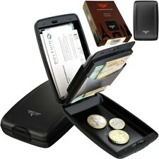 TRU VIRTU Kartenetui Kreditkarten Geldbörse Portemonnaie Aluminium RFID Black