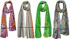 Fashion Women Cotton Linen Beautiful Rural Style Flower Long Indian Scarf Shawl