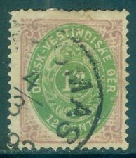 DANISH WEST INDIES : 1874-79. Scott #11 Very Fine Used. Nice color. Catalog $175