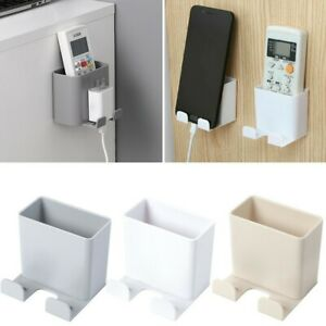 Wall-Mounted Storage Case Plug Holder Stander For Remote Control Mobile Phone