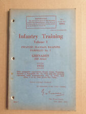 More details for british army 1951 infantry training manual volume 1 pamphlet no 7 grenades