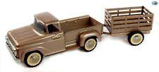 Awesome Vintage Original 1960s 'Tonka Toys' Pressed Steel Truck & Trailer