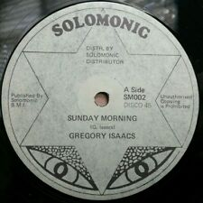 "GREGORY ISAACS~ ""Sunday Morning"" DENNIS BROWN 1980 LOVERS REGGAE DUB 12 ♫ HEAR ♫"