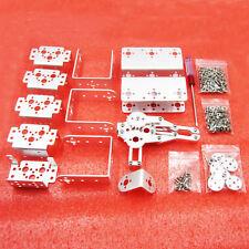 Arduino DIY 6DOF Robot Arm Mechanical Robotic Clamp Claw Aluminium Silver