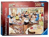 14818 Ravensburger The Waitress Jigsaw Puzzle Happy Days at Work 500 Pieces