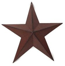 Farmhouse Barn Star 12 inch Burgundy Red Primitive Country Decor