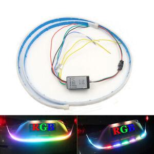 Waterproof 1.2m Car Tail Streaming Light Strip RGB Trunk Turn Signal Indidator