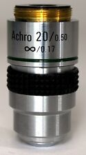 NEW 20X MICROSCOPE OBJECTIVE, ACHROMATIC, INFINITY, NA 0.5, RMS THREAD (ID141)