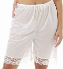 """Pettipants Half Slip Petti Pants 22""""Long Size XL White"""