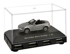 Official Mercedes Benz SLK 350 Car 4-Port USB Computer Hub - Silver