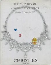 CHRISTIE'S GENEVA JEWELS Private Collection Koch Meister Schilling Winston 1997
