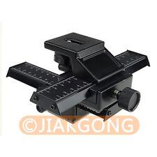 4 way Macro Shot Focusing Rail Slider for Canon Nikon Pentax SLR DSLR DC