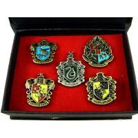 Set of 5pcs Harry Potter Hogwarts House Metal Pin Badge In Box
