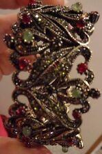 "Heidi Daus Seductive Fantasy Crystal Cuff Bracelet  Fits up to 7.25"" Wrist NIB"