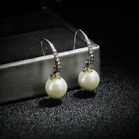 Earrings Class Pearl White Crystal Super Chic Elegant Simple CC1