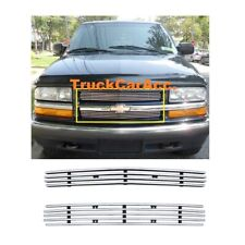 FOR CHEVY S-10 PICK UP 1998 99 2000 01 02 03 2004 UPPER BILLET GRILLE INSERT Cut