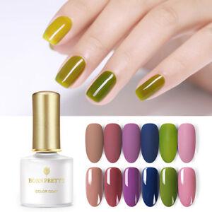 6ML BORN PRETTY Morandi Glossy UV Gellack Matte Soak Off Nail Art Gel Varnish