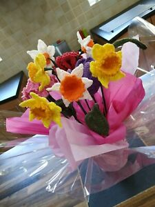 Flowers,Handmade Spring bouquet mixed colours allergy free