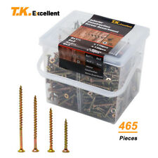 Wood Interior Construction Screws Drywall / Deck Screws Assortment Kit,465 Pcs