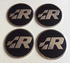 Golf R Racing Logo Wheel Centre Hub Cap Badges Stickers 57mm x4 for R20