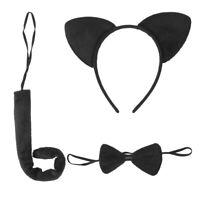 3PCS Set Kids Cartoon Animal Ears Headband Hairband Bow Tie Tail Set for Cosplay