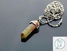 Unakite Crystal Point Pendant Natural Gemstone Necklace Healing Stone Chakra