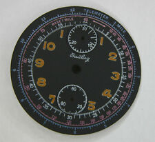 Venus cal 170 Chronograph Dial for replacement, ochre numbers