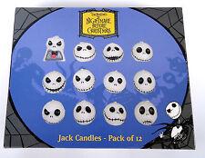 THE NIGHTMARE BEFORE CHRISTMAS JACK SKELLINGTON CANDLES Pack of 12 TIM BURTON