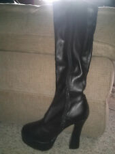Women's black knee high boots size 8