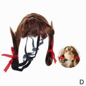 Pet Headwear Short Dog Wigs Wire Hair Funny Halloween Festival Gift
