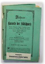 Führer durch die Kurorte der Südschweiz 1914 Landeskunde Ortskunde Geographie xy