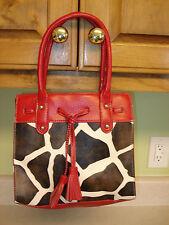 Bueno Animal Print Shoulder Bag Satchel Purse Clean 2 Zipper Pockets