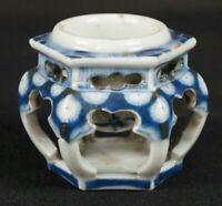 Japan ceramic Koro incense burner 1800s antique Japanese Imari art craft