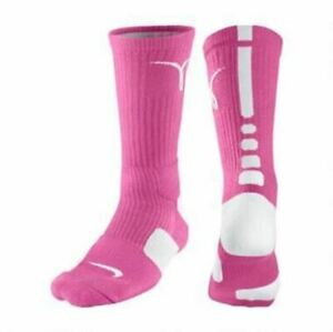 Nike Elite  Breast Cancer  KayYow Crew Socks Pink/White  MEDIUM  (MEN 6-8)