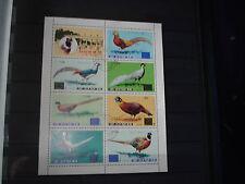 Briefmarken Korea Block Motiv Tiere Vögel Pfau Fasan 1976