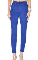 WAKEE ELECTRIC BLUE HIGH RISE SKINNY LEG JEANS. SIZE 6-16