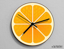 Orange Fruit Wall Clock