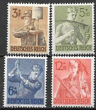 Germany Third Reich 1943 Mi# 850-853 MH Labor Corps *