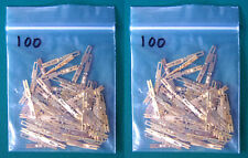 200 New Elco EDAC Solder Type Pins for 56 90 and 120 Gold Pin Connectors. E6