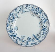222 Fifth OAKLEY TEAL LIGHT and Dark BLUE Floral DINNER Plates SET-4 NEW  sc 1 st  eBay : light dinner plates - pezcame.com