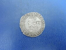 Charles I Silver Sixpence 1638-39
