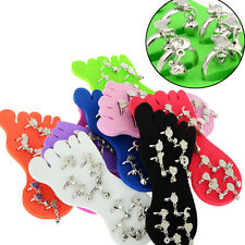 12pcs Wholesale Lots Mixed Colors Foot Toe Ring Display Expander Piercing Jewlry