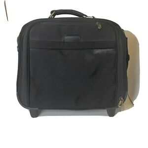 Briggs & Riley Compact Rolling Business Briefcase Carry On Luggage BR214 Good