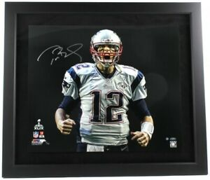 "Tom Brady Signed Patriots LE 5/12 ""SB 49 Touch Down Scream"" 27x31 Custom Steiner"