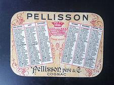 Ancien mini calendrier de poche Cognac Pellisson 1954 TTBE