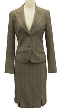 MEXX Women's Pin Stripe Wide Peak Lapels Jacket Pencil Skirt Suit US S $150 NEW