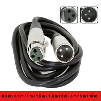 1Pc 3 Pin XLR Male to Female Microphone Balanced Extension Audio Cord Cable Wire